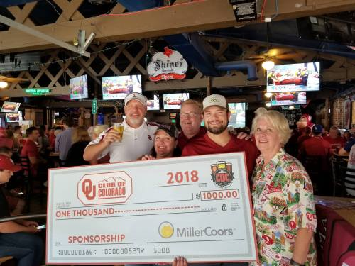 2018 Coors Check Presentation to officers